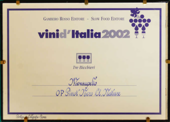 MONSUPELLO NATURE 2001 PINOT NERO OLTREPO' PAVESE D.O.C.