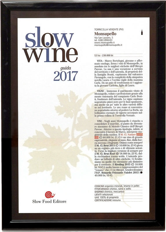 MONSUPELLO Slow Wine 2017